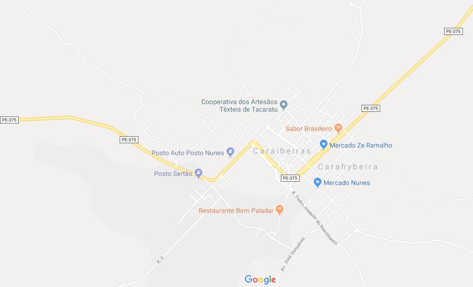 CEP  de Caraibeiras e Tacaratu